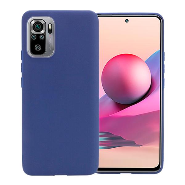 Blue matt TPU Silicone Case UNI for Xiaomi Redmi Note 10 / 10s