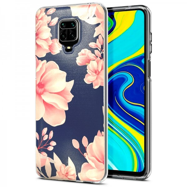 """Ultra Thin TPU Silicone Case print """" Spring Flower 12 """" for Xiaomi Redmi Note 9S / Note 9 Pro"""