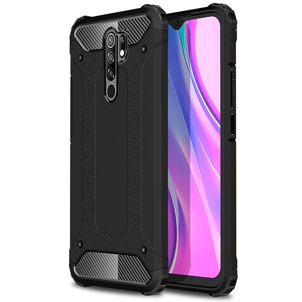 Black Armor Case for Xiaomi Redmi 9
