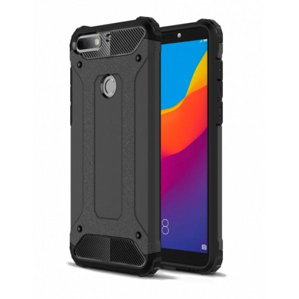 Black Armor Case for Huawei Y7 / Y7 Prime (2018)