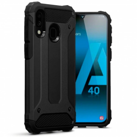 Black Armor shockproof Case for Samsung Galaxy A40 SM-A405F/DS
