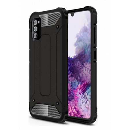 Black Armor Case for Samsung Galaxy A41 / SM-A415F/DSN