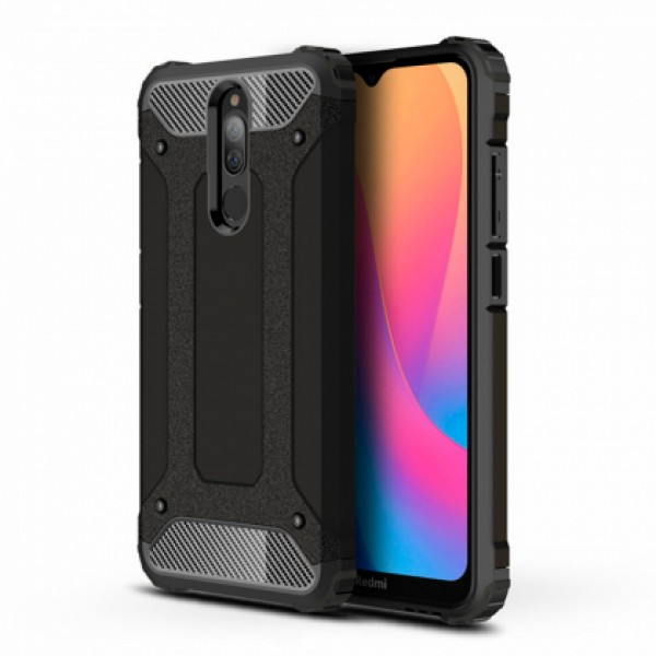 Black Armor shockproof Case for Xiaomi Redmi 8 / M1908C3IC, MZB8255IN