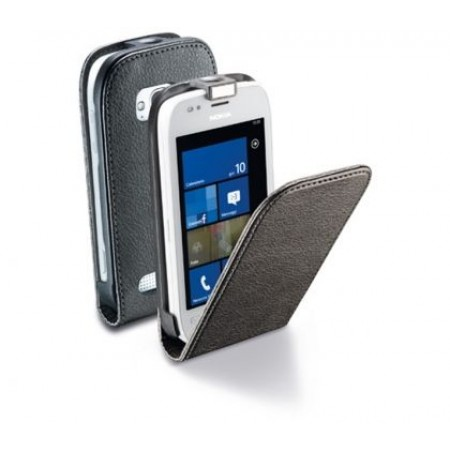 Black Flap Cover for Nokia Lumia 710