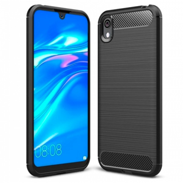 CARBON silicone back with carbon print for Huawei Y5 2019