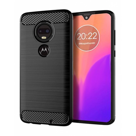 CARBON silicone back with carbon print for Motorola Moto G7 Power