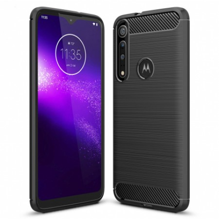 CARBON silicone back with carbon print for Motorola One Macro