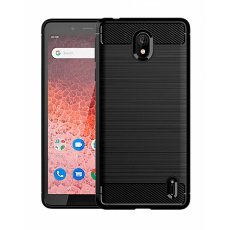 CARBON silicone back with carbon print for Nokia 1 Plus