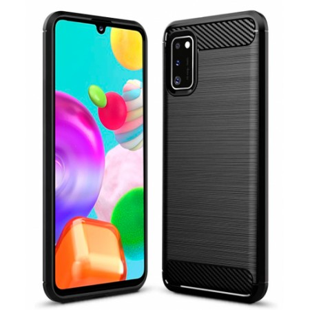 CARBON silicone back with carbon print for Samsung Galaxy A41 / SM-A415F