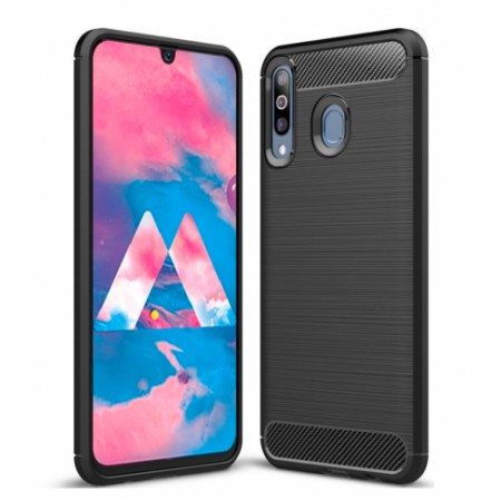 CARBON silicone back with carbon print for Samsung Galaxy M30 / SM-M305F/DS
