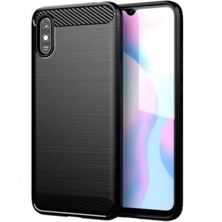 CARBON silicone back with carbon print for Xiaomi Redmi 9A / M2006C3LG