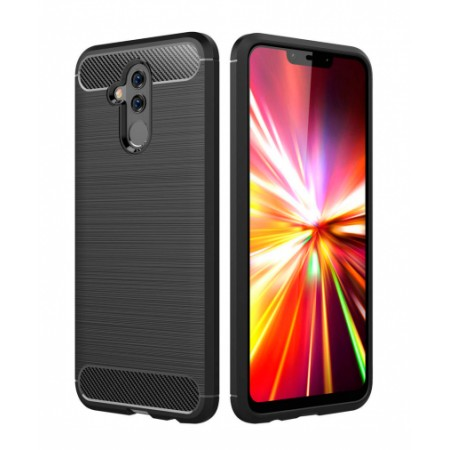 Forcell CARBON silicone back with carbon print for Huawei Mate 20 lite