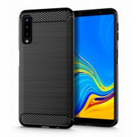 Forcell CARBON silicone back with carbon print for Samsung Galaxy A7 (2018) A750