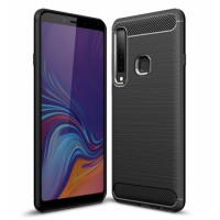 Forcell CARBON silicone back with carbon print for Samsung Galaxy A9 (2018) A920