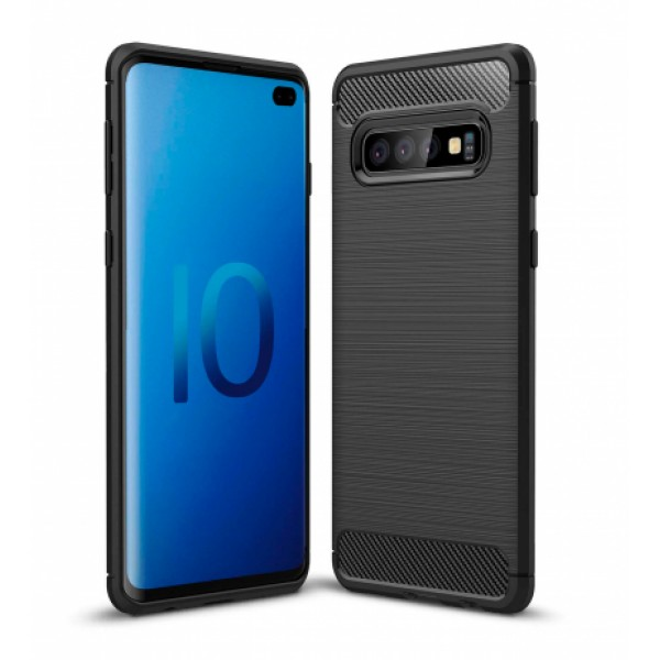 Forcell CARBON silicone back with carbon print for Samsung Galaxy S10 Plus G975