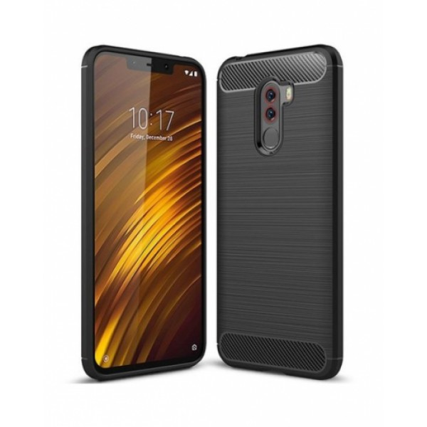 Forcell CARBON silicone back with carbon print for Xiaomi Pocophone F1
