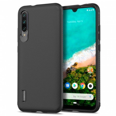 Full CARBON silicone back with carbon print for Xiaomi Mi 9 Lite