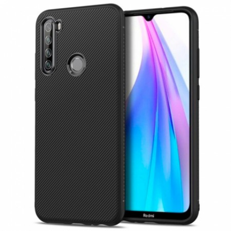 Full CARBON silicone back with carbon print for Xiaomi Redmi Note 8T