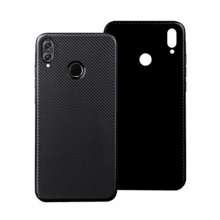 Black silicone back with Carbon Effect i-Zore for Huawei Honor 8X
