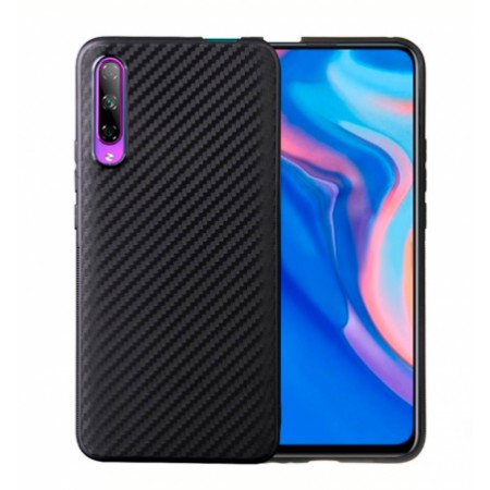 Black silicone back with Carbon Effect i-Zore for Huawei P smart Pro 2019