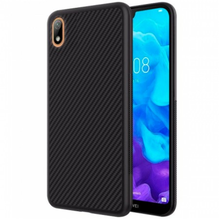 Black silicone back with Carbon Effect i-Zore for Huawei Y5 2019