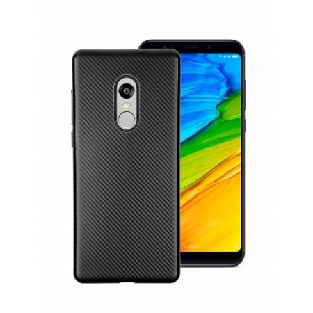 Black silicone back with Carbon Effect i-Zore for Xiaomi Redmi Note 5 (Redmi 5 Plus)
