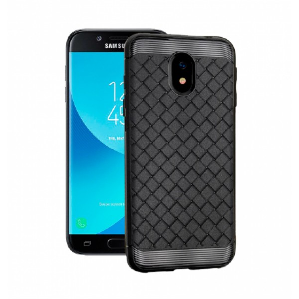 Black silicone back with Grid Effect i-Zore for Samsung Galaxy J3 (2017) j330