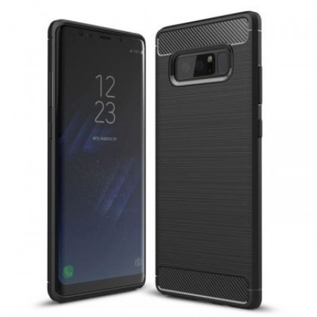 Black silicone back with carbon print for Samsung Galaxy Note 8 N950F