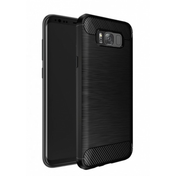 Black silicone back with carbon print for Samsung Galaxy S8 Plus G955F
