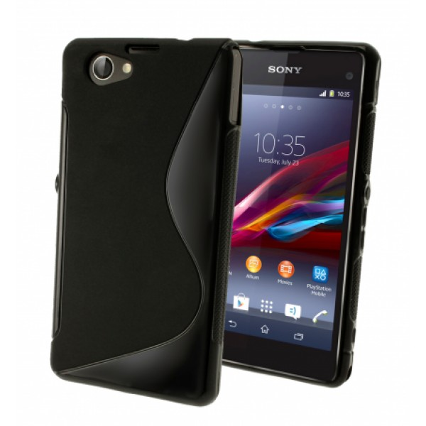Black S-line TPU Silicone Case for Sony Xperia Z1 Compact