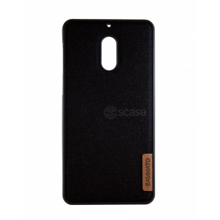 Black TPU Gel Silicone Case SAMMATO Jeans for Nokia 6 AT-1021