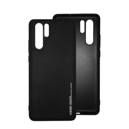 Black silicone back with X-level Exquisite series for Huawei P30 Pro