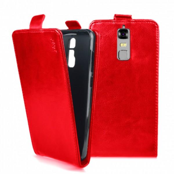 Flip case for ZTE Blade A610 Plus - red