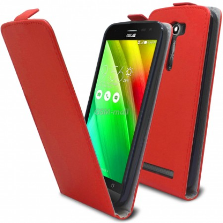 Red Flip case for Asus Zenfone 2 Laser ZE550KL
