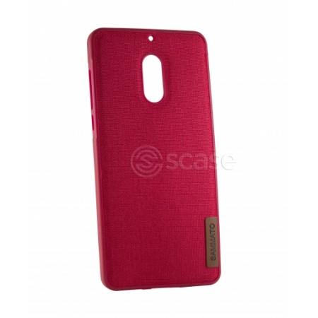 Red TPU Gel Silicone Case SAMMATO Jeans for Nokia 6 TA-1021