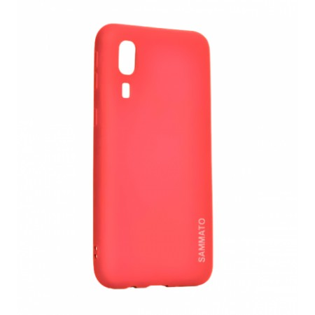 Red Silicone Sammato Case for Samsung Galaxy A2 Core / SM-A260F/DS