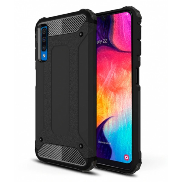 Black Forcell Armor Case Samsung Galaxy A50 SM-A505F/DS