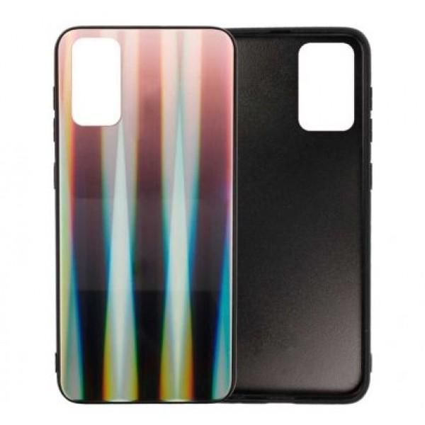 Black Glass Case Aurora Renbow for Samsung Galaxy S20 / G980 - Brown/Black