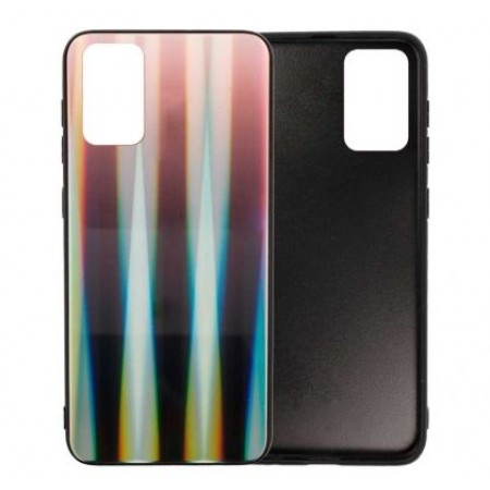 Black Glass Case Aurora Renbow for Samsung Galaxy S20 Plus / G985 - Brown/Black