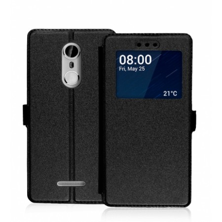 Black Book Window Pocket case for Coolpad Torino S