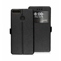 Book Window Pocket case for Huawei P Smart FIG-LX1 - black