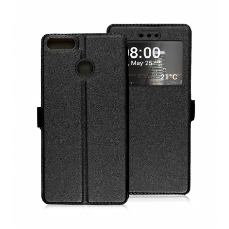Book Window Pocket case for Huawei P Smart FIG-LX1 - black