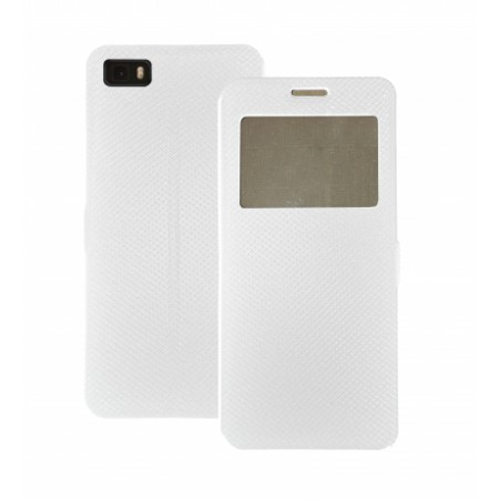 Book Window Pocket case for Huawei P8 Lite - white