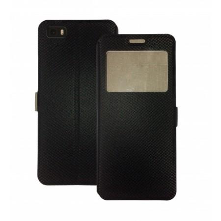 Book Window Pocket case for Huawei P8 Lite - black