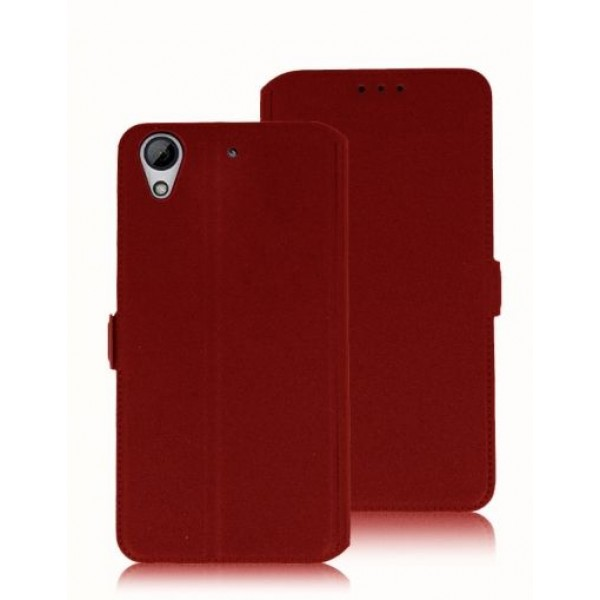Book Pocket case for HTC Desire 728 dual sim - red