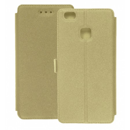 Book Pocket case for Huawei P10 Lite - gold
