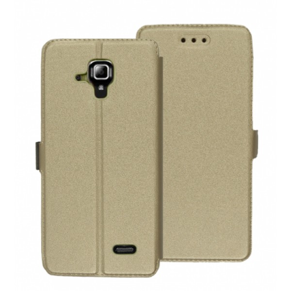 Book Pocket case for Lenovo A536  - gold