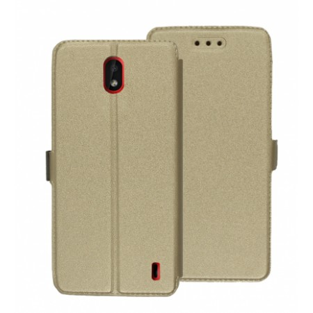 Book Pocket case for Nokia 1 Plus  - gold