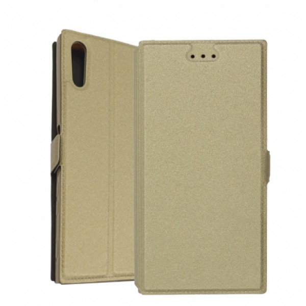 Book Pocket case for Sony Xperia XZ Dual F8332 - gold