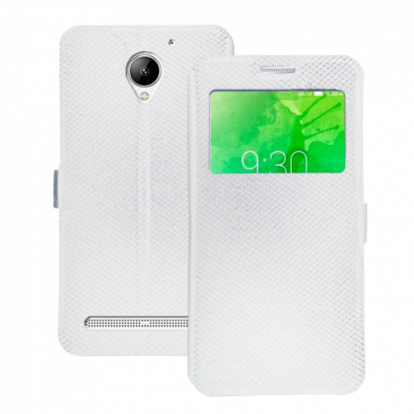 Book Window cover case for Lenovo C2 k10a40 - white